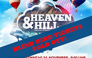 500 Blind Bird Tickets sind sold!